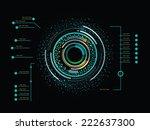 futuristic color infographics... | Shutterstock .eps vector #222637300