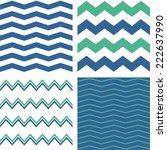 zig zag chevron vector pattern... | Shutterstock .eps vector #222637990