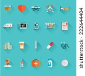 vector medical icons 20 set.... | Shutterstock .eps vector #222644404