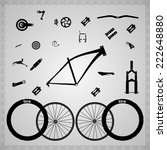 bicycle components of different ... | Shutterstock .eps vector #222648880