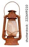 Close Up Of Rusty Oil Lantern...