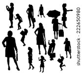 vector silhouette of... | Shutterstock .eps vector #222650980