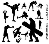 vector silhouettes of people... | Shutterstock .eps vector #222651010