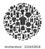set of women's and  men's... | Shutterstock .eps vector #222653818
