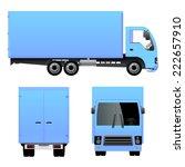blue cargo truck | Shutterstock .eps vector #222657910