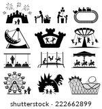 Amusement Park Icons. Children...