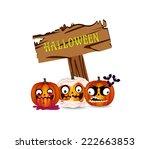 halloween pumpkins | Shutterstock . vector #222663853