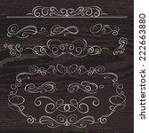 vintage frames and scroll...   Shutterstock .eps vector #222663880