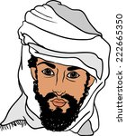 arab on a transparent background | Shutterstock .eps vector #222665350