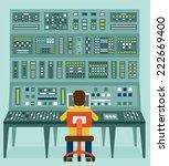 flat illustration of expert... | Shutterstock .eps vector #222669400