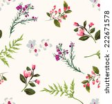 Stock vector seamless floral branch vector pattern 222671578