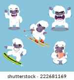 Stock vector yeti cold winter set vector illustration 222681169