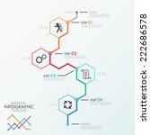minimal infographics timeline... | Shutterstock .eps vector #222686578