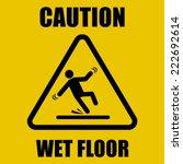 wet floor warning sign | Shutterstock .eps vector #222692614