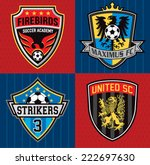 soccer club emblem patches | Shutterstock .eps vector #222697630