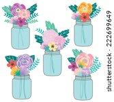 Mason Jar Floral Bouquet