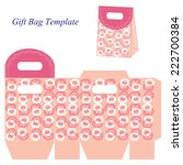 pink gift bag template with... | Shutterstock .eps vector #222700384