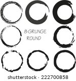 set of vector grunge circle... | Shutterstock .eps vector #222700858