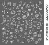 medicine icons doodle | Shutterstock . vector #222700900