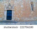 stone decorated door of a... | Shutterstock . vector #222706180