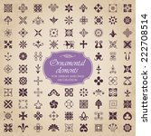ornamental elements for design... | Shutterstock .eps vector #222708514