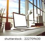 laptop in loft studio | Shutterstock . vector #222709630