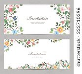 cute floral invitation cards... | Shutterstock .eps vector #222710296