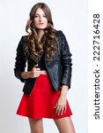portrait of fashionable... | Shutterstock . vector #222716428