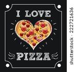 pizza graphic design   vector... | Shutterstock .eps vector #222721636