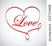 love graphic design   vector... | Shutterstock .eps vector #222724408