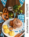 schweinshaxe   pork knuckle on...   Shutterstock . vector #222726199
