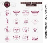 set of line wine badges and...   Shutterstock .eps vector #222726994