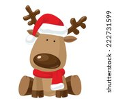 reindeer child sitting in... | Shutterstock .eps vector #222731599