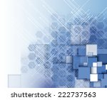 abstract structure circuit... | Shutterstock .eps vector #222737563