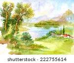 Watercolor River Nature...