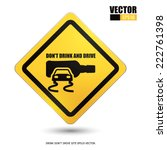 don't drink and drive eps10... | Shutterstock .eps vector #222761398