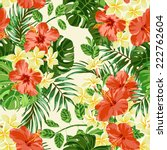 seamless exotic pattern with... | Shutterstock .eps vector #222762604