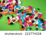 Close Up Of Many Colorful Pill...