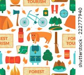 camping equipment  forest... | Shutterstock .eps vector #222777940