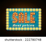 retro sale best prices  glowing ... | Shutterstock .eps vector #222780748