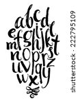 vector alphabet. hand drawn... | Shutterstock .eps vector #222795109