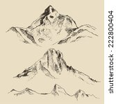 contours of the mountains... | Shutterstock .eps vector #222800404