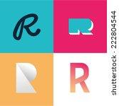 vector illustration letter r set