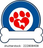 veterinary blue circle label... | Shutterstock .eps vector #222808408