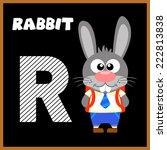 the english alphabet letter r ... | Shutterstock .eps vector #222813838