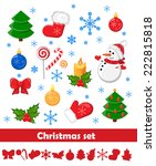 christmas set | Shutterstock .eps vector #222815818