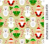 christmas seamless pattern... | Shutterstock .eps vector #222816454
