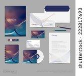 brand identity company style...   Shutterstock .eps vector #222817693