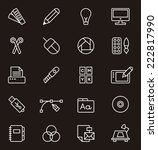 graphic design icons | Shutterstock .eps vector #222817990