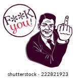retro vintage clipart  fuck you ... | Shutterstock .eps vector #222821923